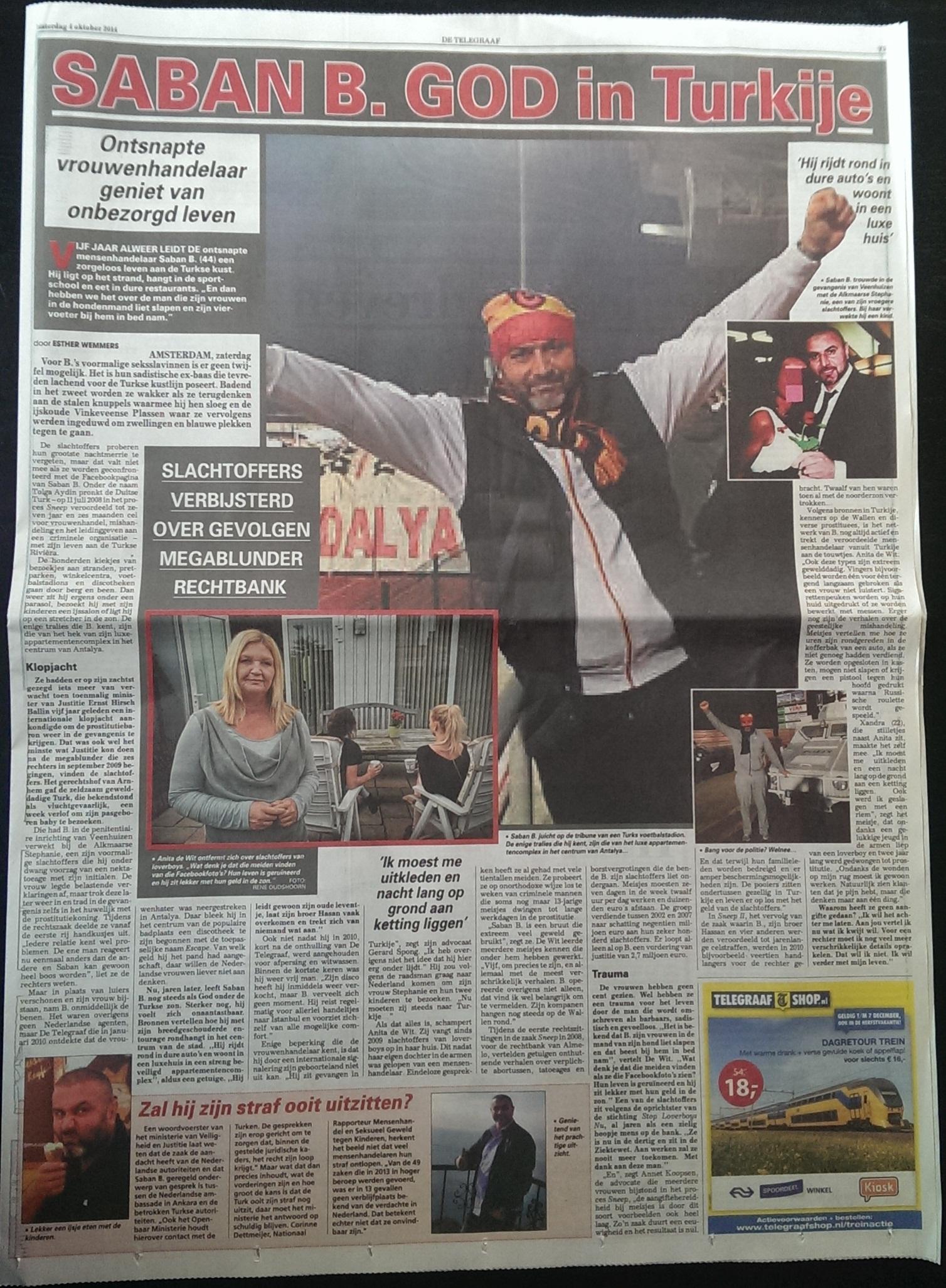 Telegraaf artikel 4-10-2014